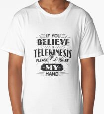 Telekinesis - Geek, nerd shirt - Peter Parker Shirt, Spiderman Homecoming Shirt Long T-Shirt