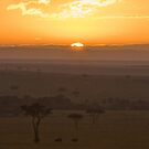 Masai Sunrise by Peter Denness