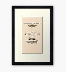 Corvette Stingray Patent Print Framed Print