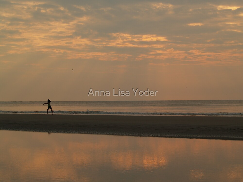 Little Girl and the Sunrise by Anna Lisa Yoder