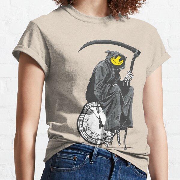 banksy grim reaper clock Classic T-Shirt