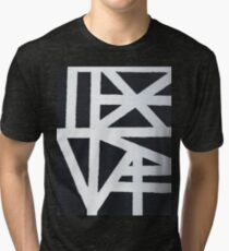 Abstract Black And White Design Tri-blend T-Shirt