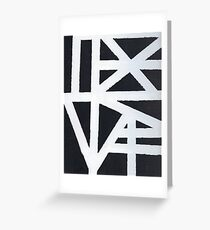 Abstract Black And White Design Greeting Card