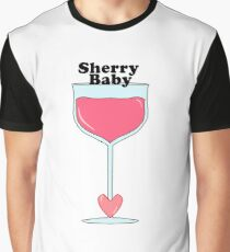 Sherry Baby Wine Glass  Graphic T-Shirt