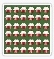 Christmas cup cakes Sticker