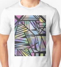 Abstract Geometric Rainbow Unisex T-Shirt