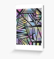 Abstract Geometric Rainbow Greeting Card