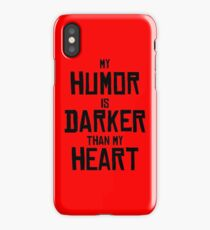 I Sarcastici 4 - My humor is darker than my heart - black on red iPhone Case/Skin