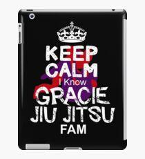 Keep Calm I Know gracie jiu jitsu Fam iPad Case/Skin