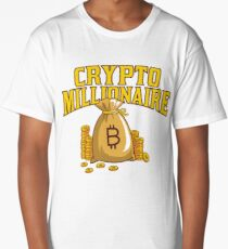 Bitcoin Millionaire Shirts & Gifts For Crypto Traders Long T-Shirt