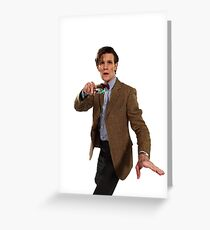 ELEVENTH DOCTOR MATT SMITH  Greeting Card