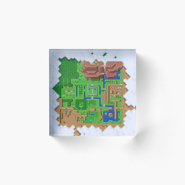 LttP: World Map Acrylic Block
