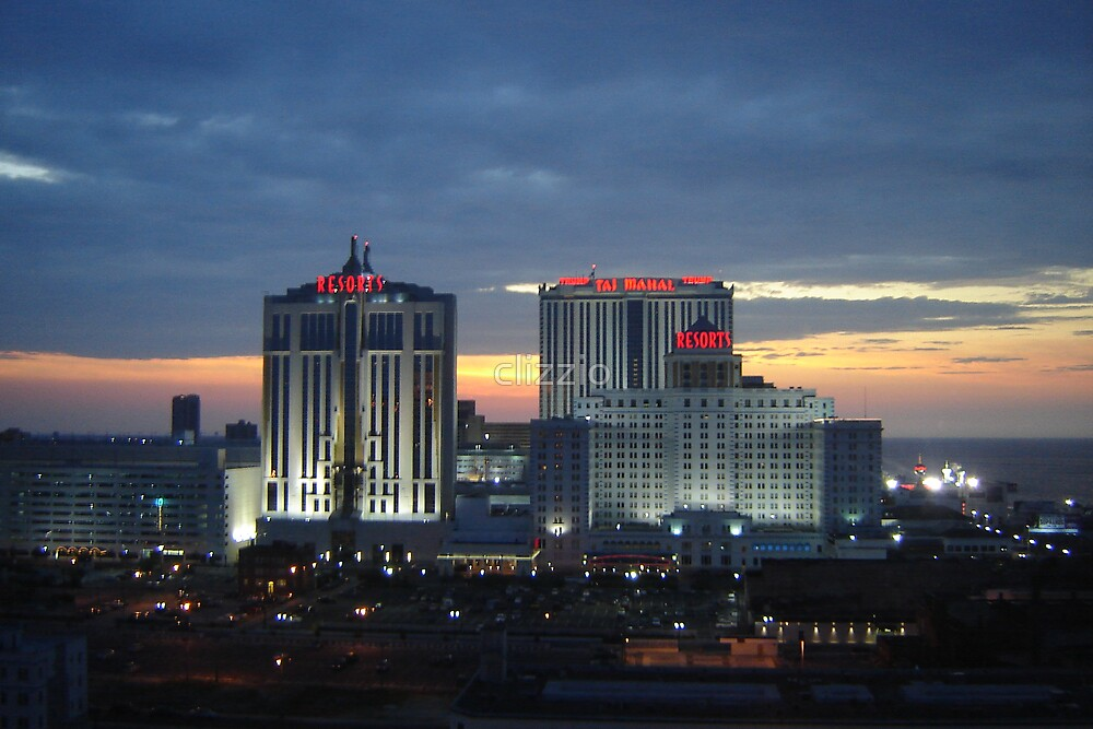 Atlantic City Taj Mahal at Sunset by clizzio