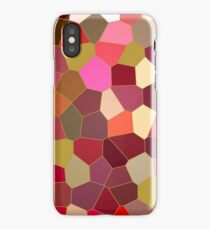 Red and Gold Festive Dazzle Stained Glass Abstract iPhone Case/Skin