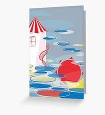 house in heaven Greeting Card
