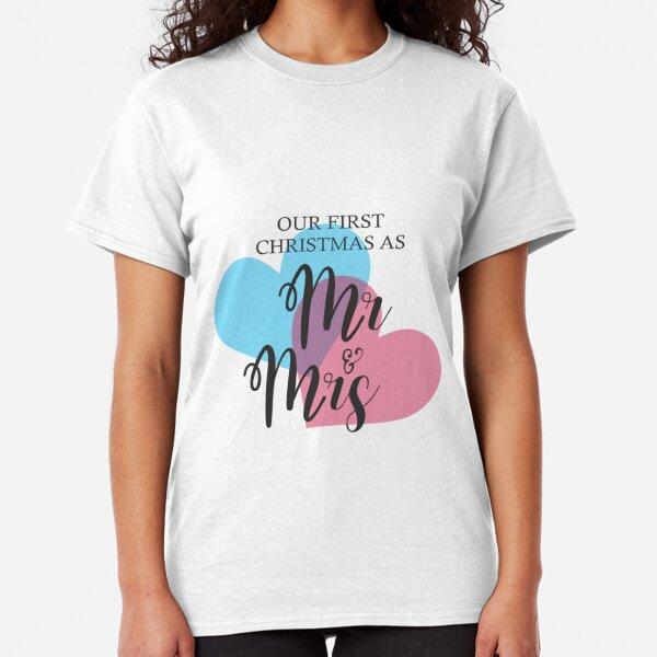 MR & MRS FIRST CHRISTMAS Camiseta clásica