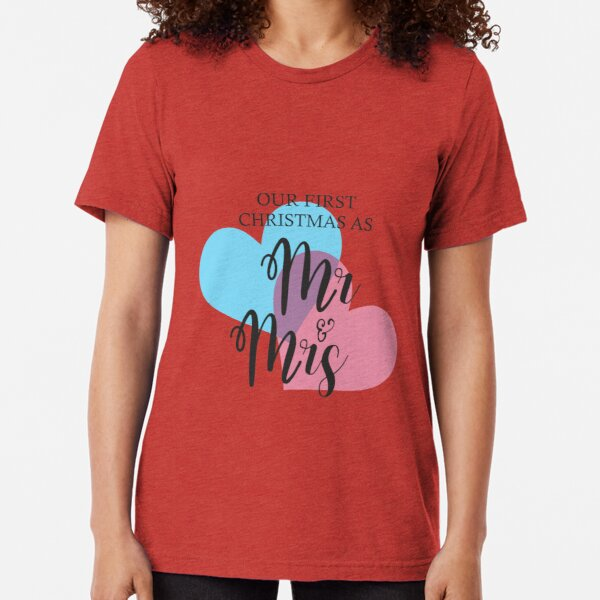 MR & MRS FIRST CHRISTMAS Camiseta de tejido mixto