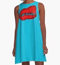 HatChet - Bold Lipstick A-Line Dress
