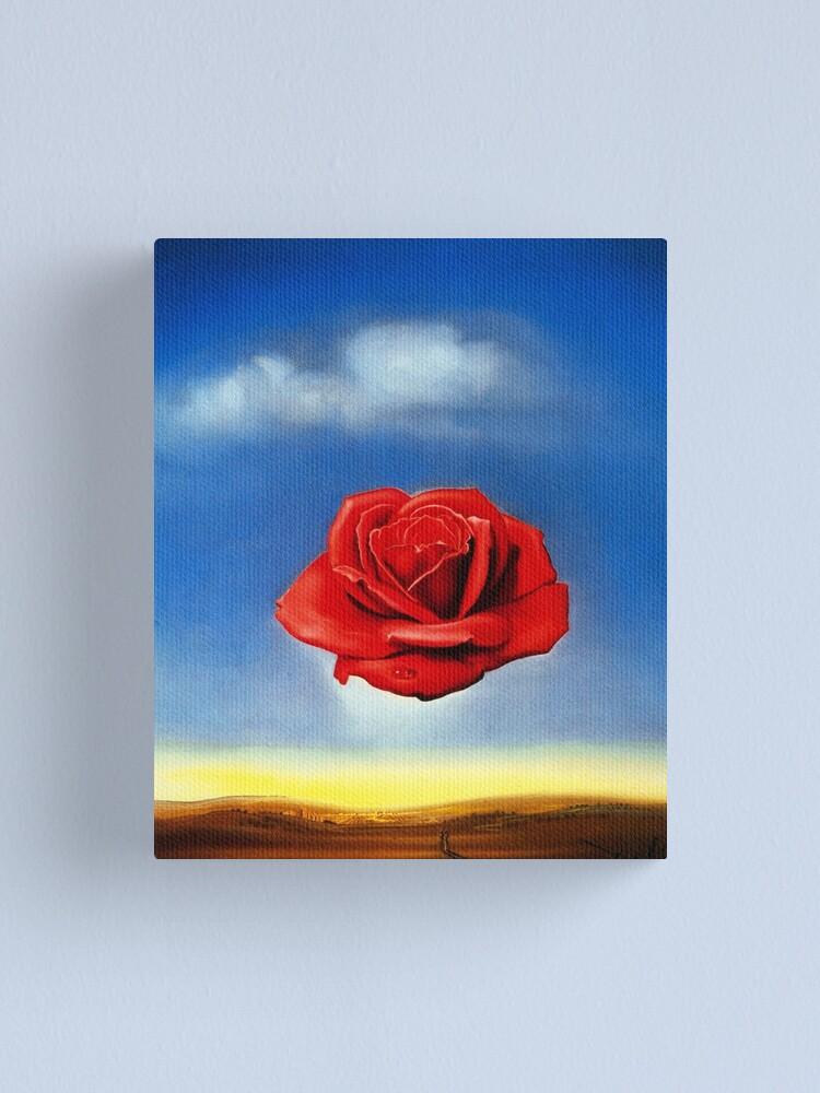 Alternate view of The Meditative Rose-Salvador Dali Canvas Print