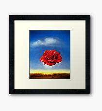Die meditative Rose-Salvador Dali Gerahmtes Wandbild