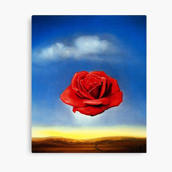 The Meditative Rose-Salvador Dali Canvas Print