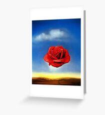 Die meditative Rose-Salvador Dali Grußkarte