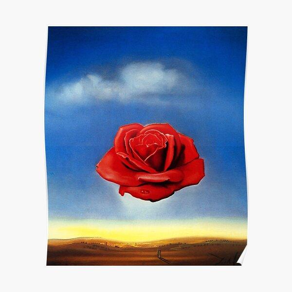 La méditative Rose-Salvador Dali Poster