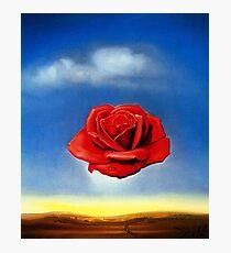 Lámina fotográfica La rosa meditativa-Salvador Dalí