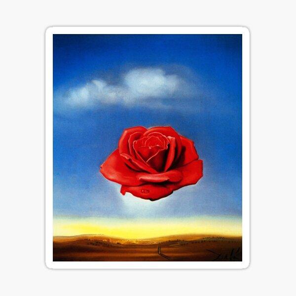 The Meditative Rose-Salvador Dali Sticker