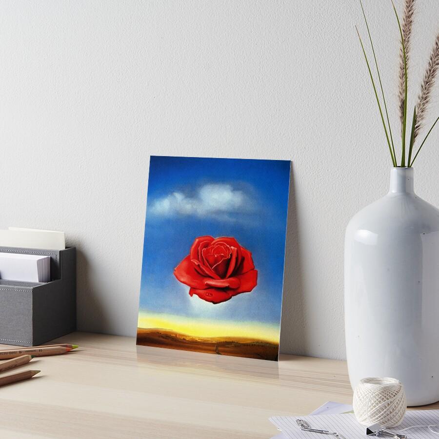 The Meditative Rose-Salvador Dali Art Board Print