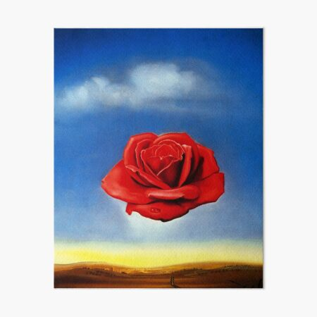 The Meditative Rose-Salvador Dali Art Board Print