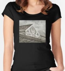 FFC - Black/White Women's Fitted Scoop T-Shirt