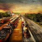 Train Station - The romance of the rails 1908 by Michael Savad