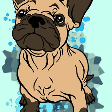 French Bull Dog Cartoon  by Sookiesooker