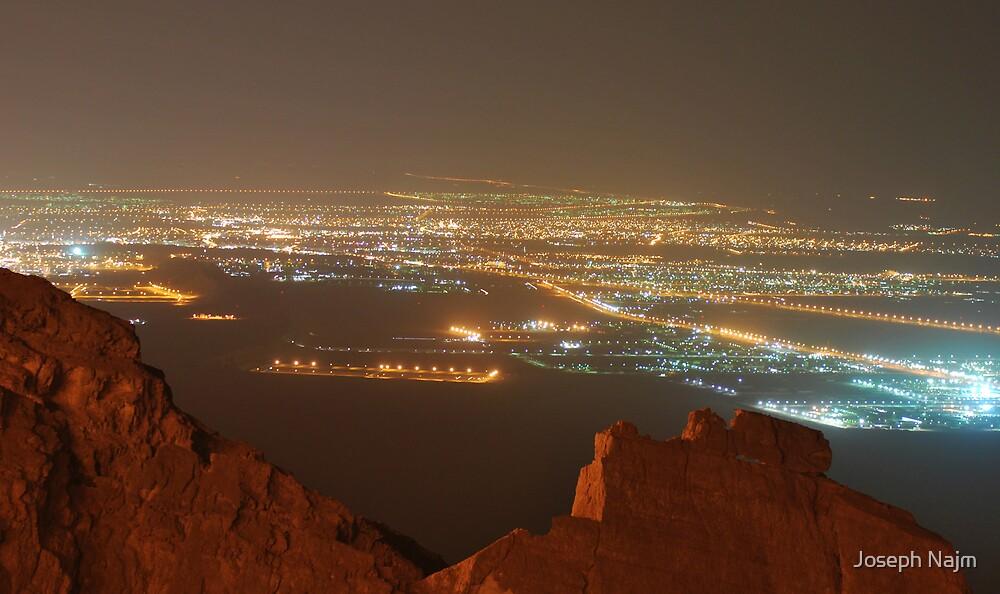 Al Ain at night by Joseph Najm