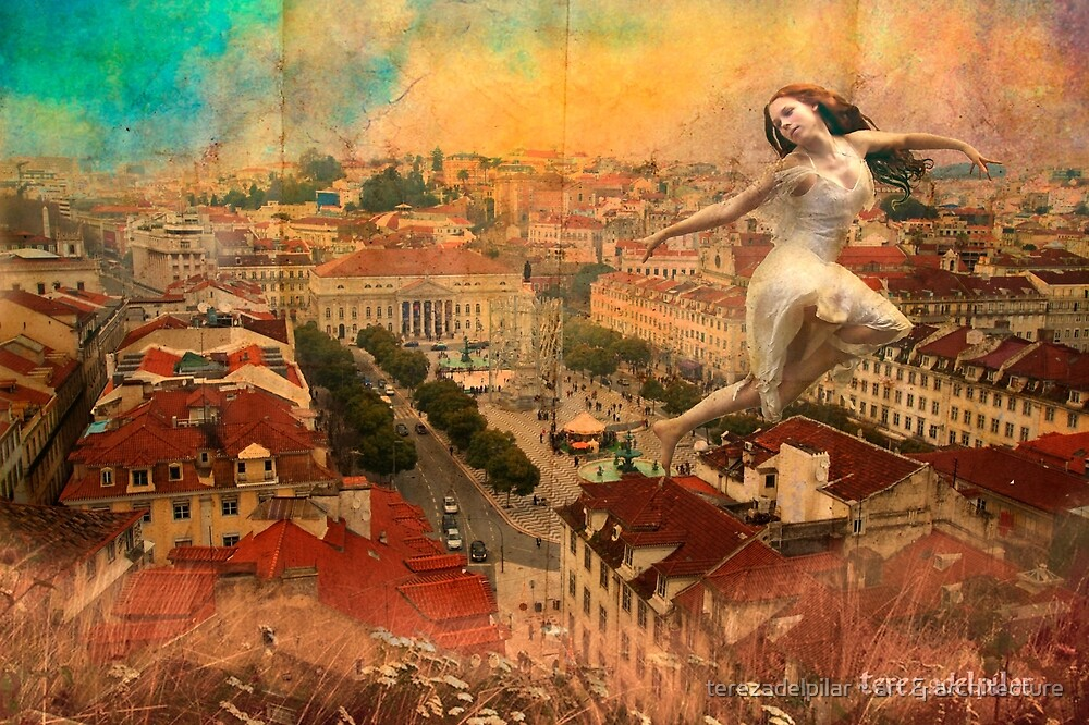 Rossio. Lisboa. a Fairy on the roof... by terezadelpilar ~ art & architecture
