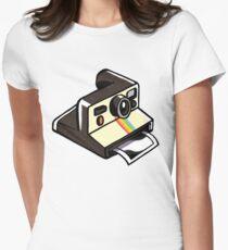 Polaroid camera sticker Women's Fitted T-Shirt