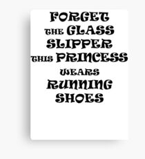 This Princess Wears Running Shoes Canvas Print