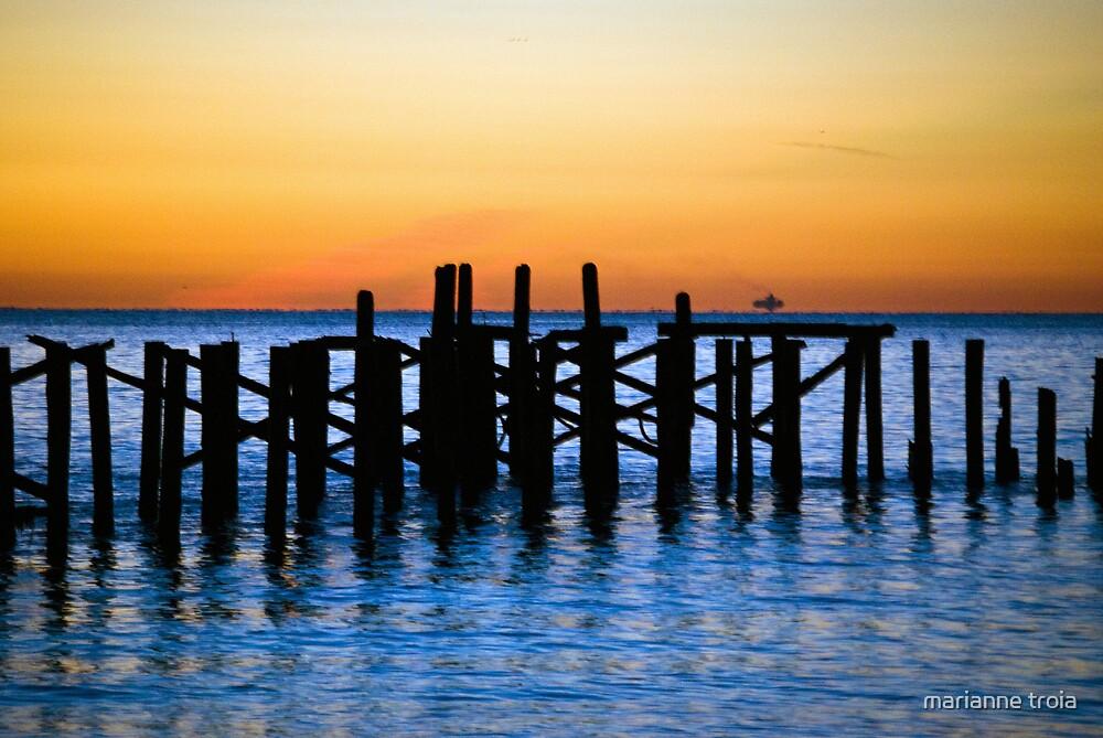sunrise at the beach by marianne troia