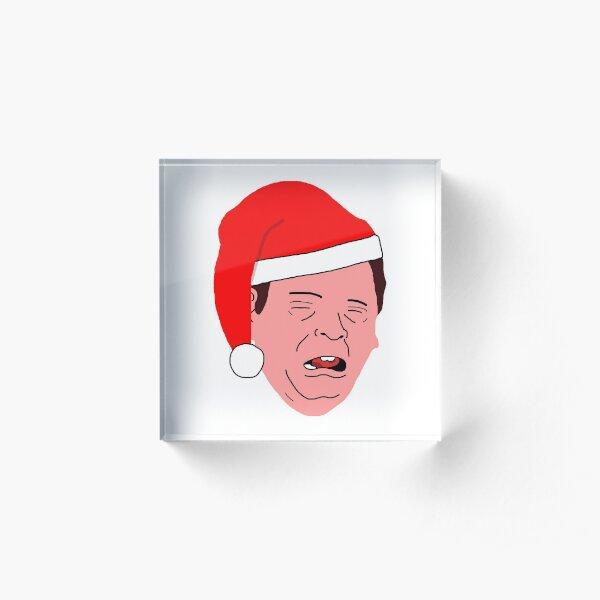 Ian Beale - Santa Bealey Acrylic Block