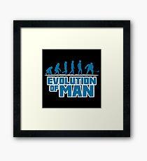 ICE HOCKEY: EVOLUTION OF MAN Framed Print