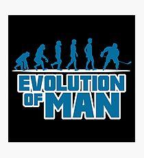 ICE HOCKEY: EVOLUTION OF MAN Photographic Print