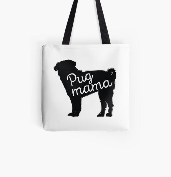 Pug Mama All Over Print Tote Bag