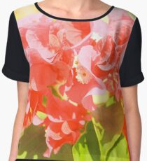 Pink Flowers. Women's Chiffon Top