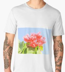 Pink Flowers Men's Premium T-Shirt