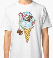 Chocolate rabbits and ice cream. Classic T-Shirt