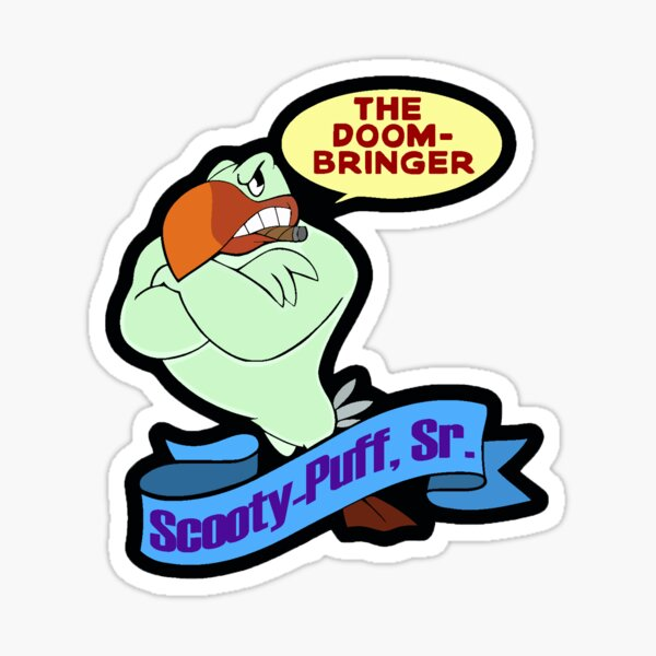 Scooty-puff sr Sticker