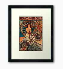 'Monaco' by Alphonse Mucha (Reproduction) Framed Print