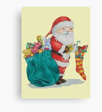 father christmas with gifts and toys Canvas Print