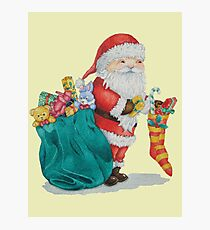 father christmas with gifts and toys Photographic Print